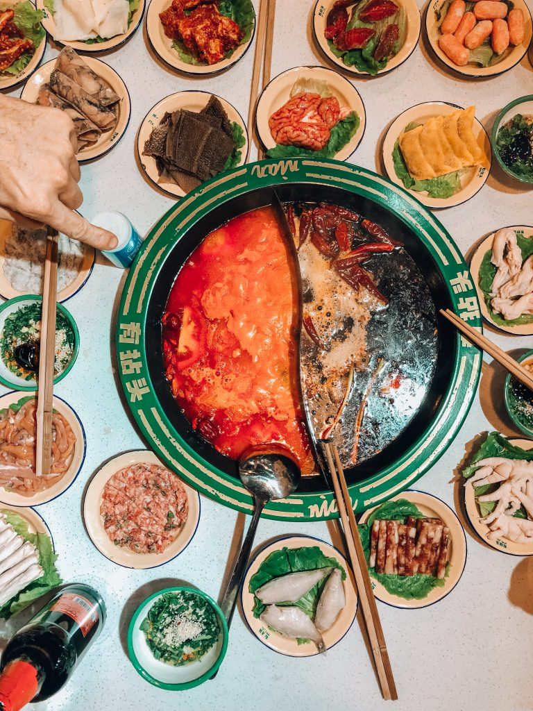 Chinese hot pot table