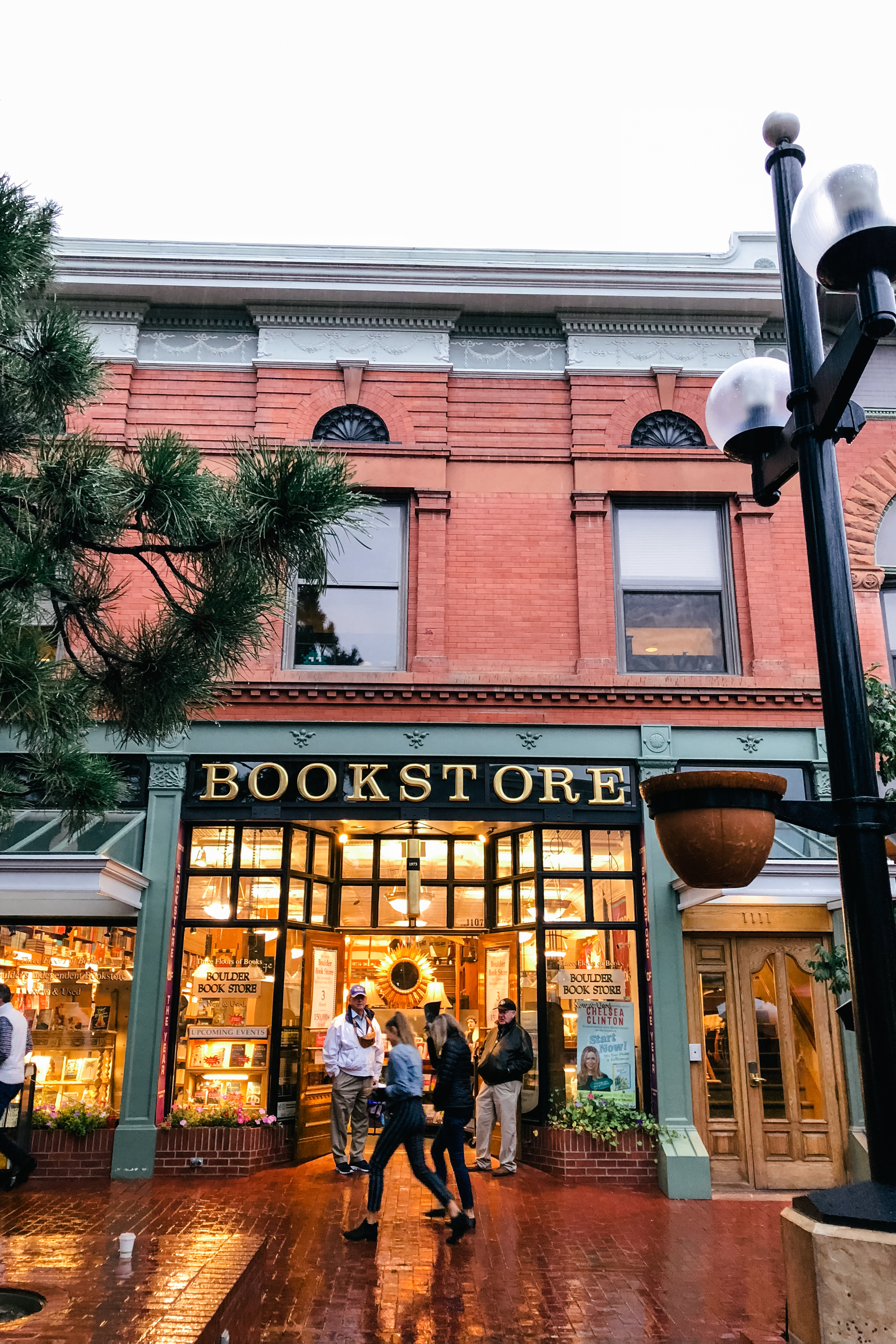 bookstore on pearl street in Boulder, Colorado