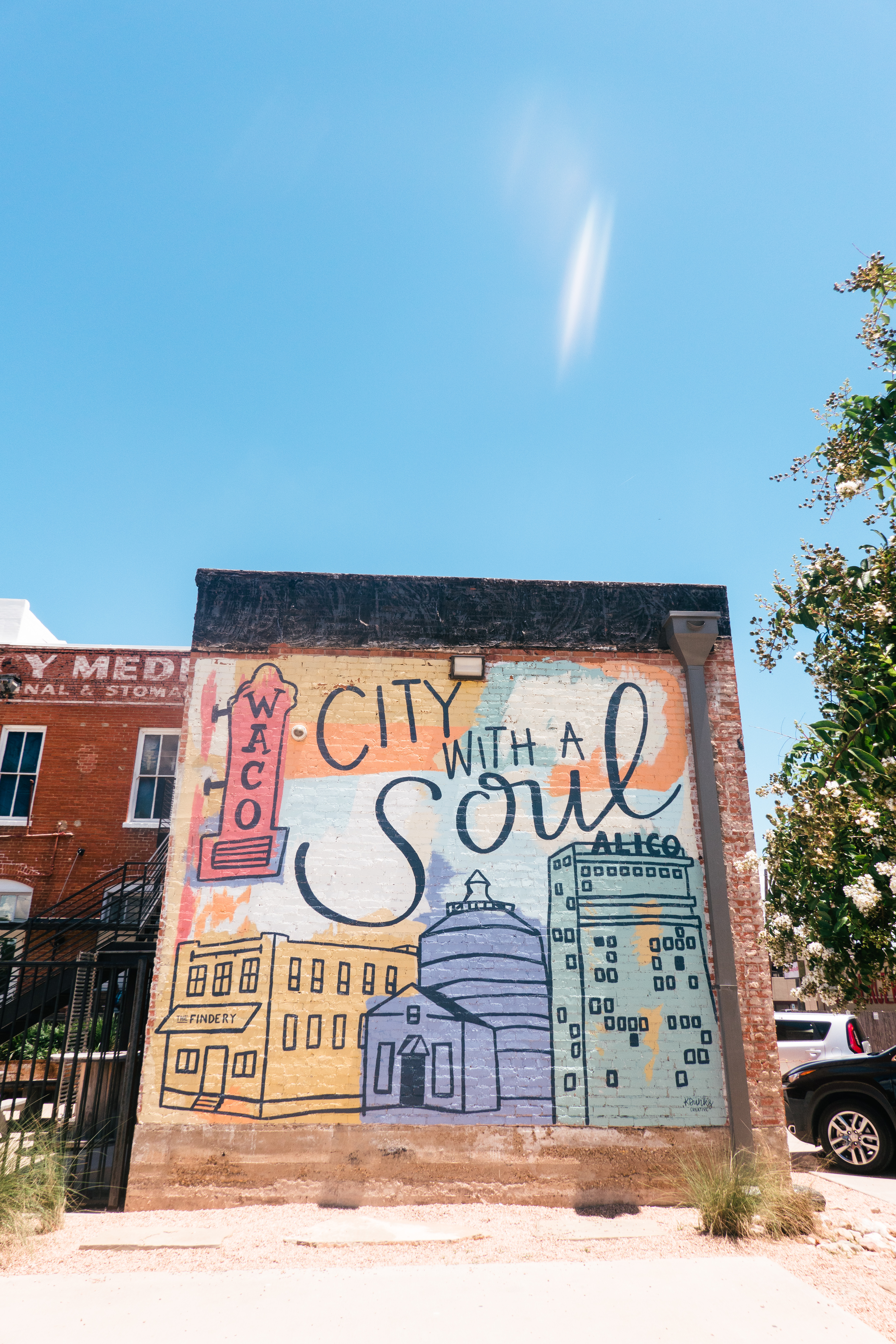 City with a Soul mural in Waco, Texas